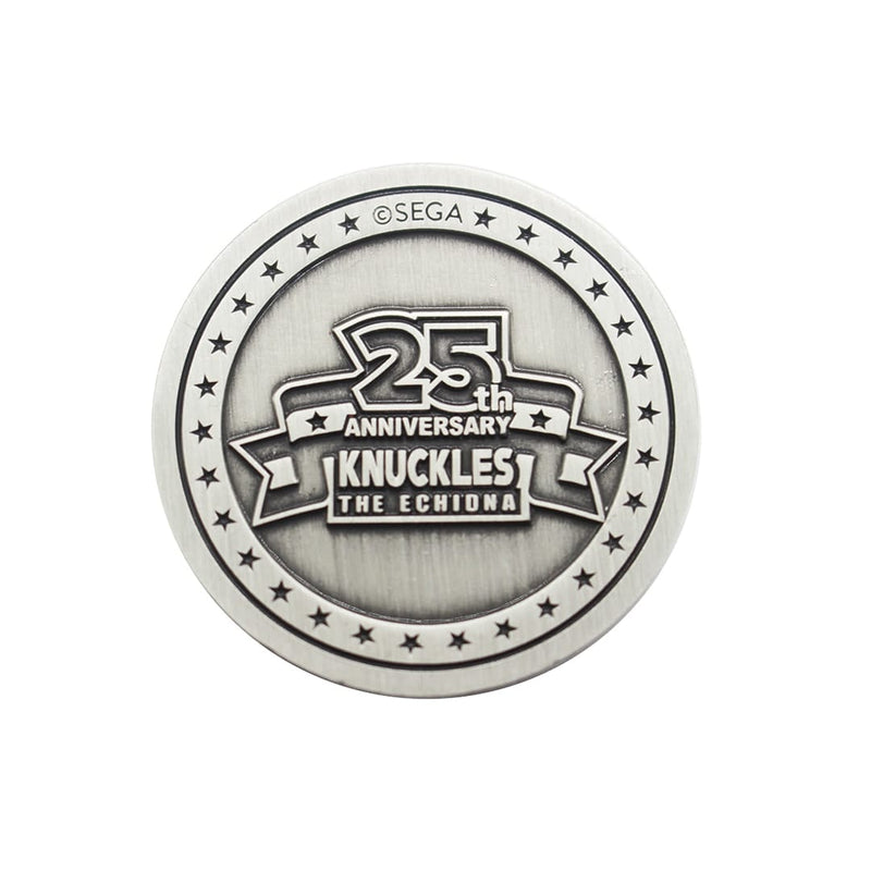 Official Knuckles 25th Anniversary Collectible coin
