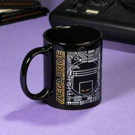 Official Mega Drive 'Logo' Black Ceramic Mug