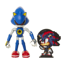 "Official Metal Sonic 4"" Bendable Action Figure with Shadow"