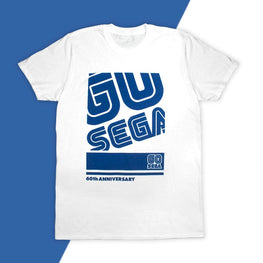 Official SEGA 60th Anniversary 'GO SEGA' White T-Shirt