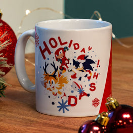 Official Modern Sonic the Hedgehog Christmas Mug