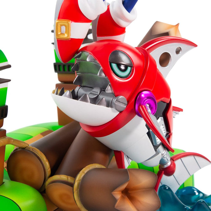 Official F4F Sonic the Hedgehog Sonic Vs. Chopper Diorama Figure