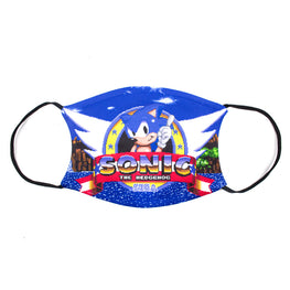 Official Sonic the Hedgehog Retro Logo Face Mask