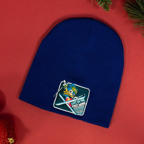 Official Classic Sonic the Hedgehog 'Snowboarding' Christmas / Winter Beanie (Adult)