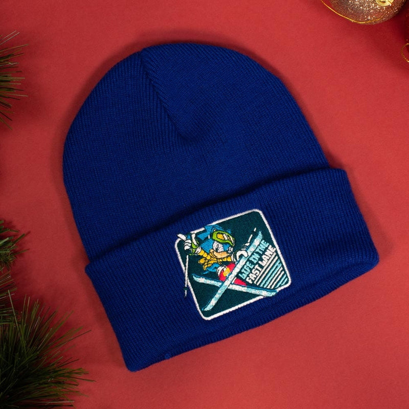 Official Classic Sonic the Hedgehog 'Snowboarding' Christmas / Winter Beanie (Kids)