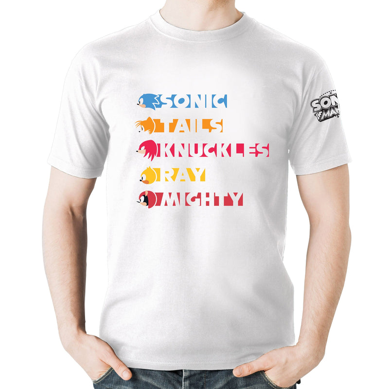 Official Sonic Mania  - Character Strip T-Shirt