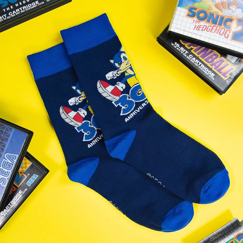 Official Sonic the Hedgehog 30th Anniversary Blue Socks (One Size)
