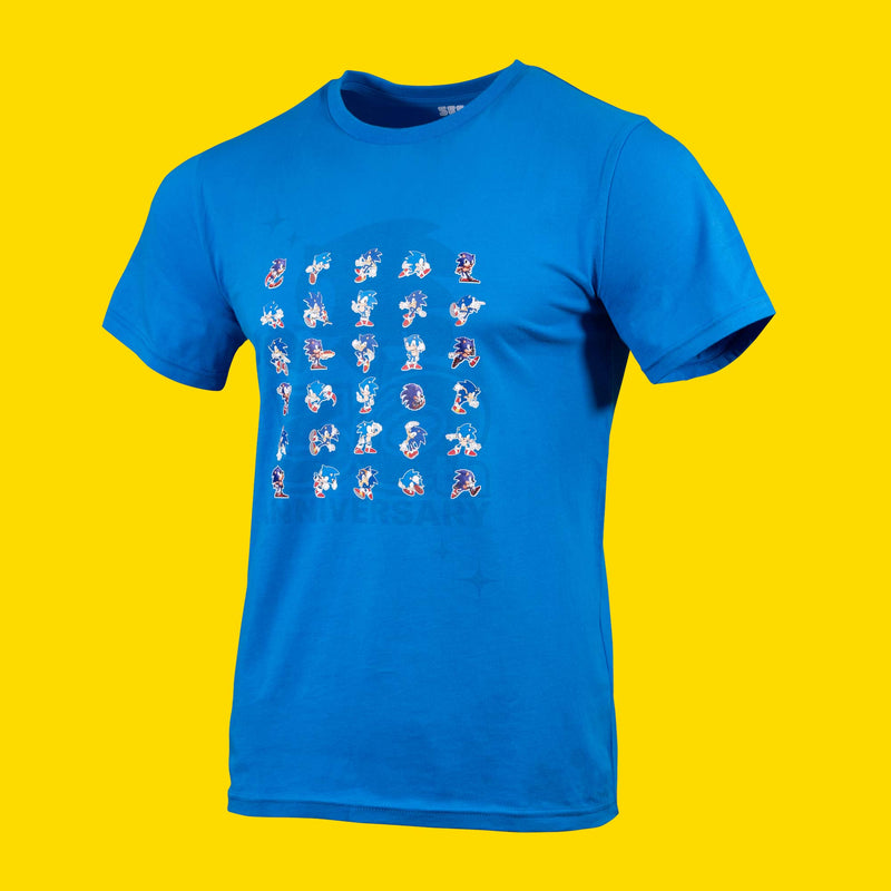 Official Sonic the Hedgehog 30th Anniversary Blue T-Shirt (Unisex)