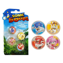 Official Sonic Boom 4 Piece Bouncy Balls