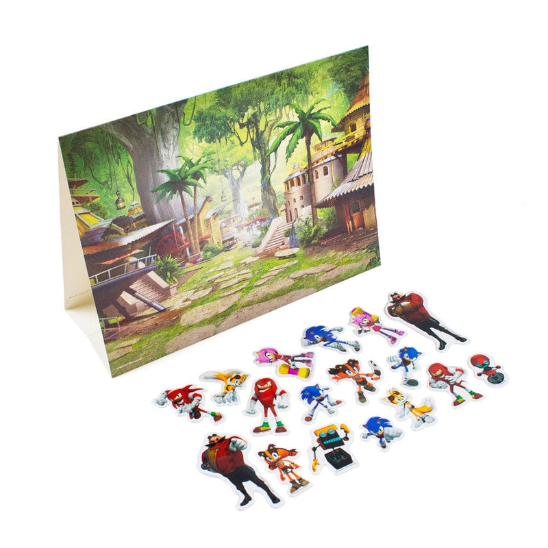 Official Sonic Boom Peel & Stick Sticker Scene