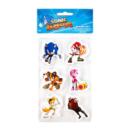Official Sonic Boom 6 Piece Eraser Pack