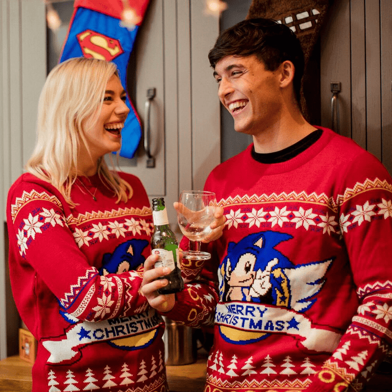 Official Classic Sonic Christmas Jumper