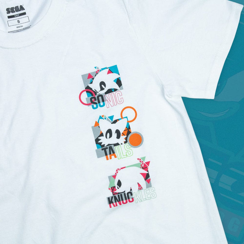 Official Modern Sonic the Hedgehog 'Remix' White T-shirt