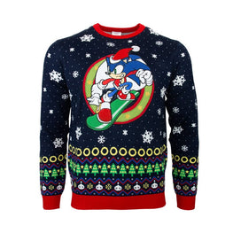 SONIC THE HEDGEHOG SNOWBOARD CHRISTMAS JUMPER
