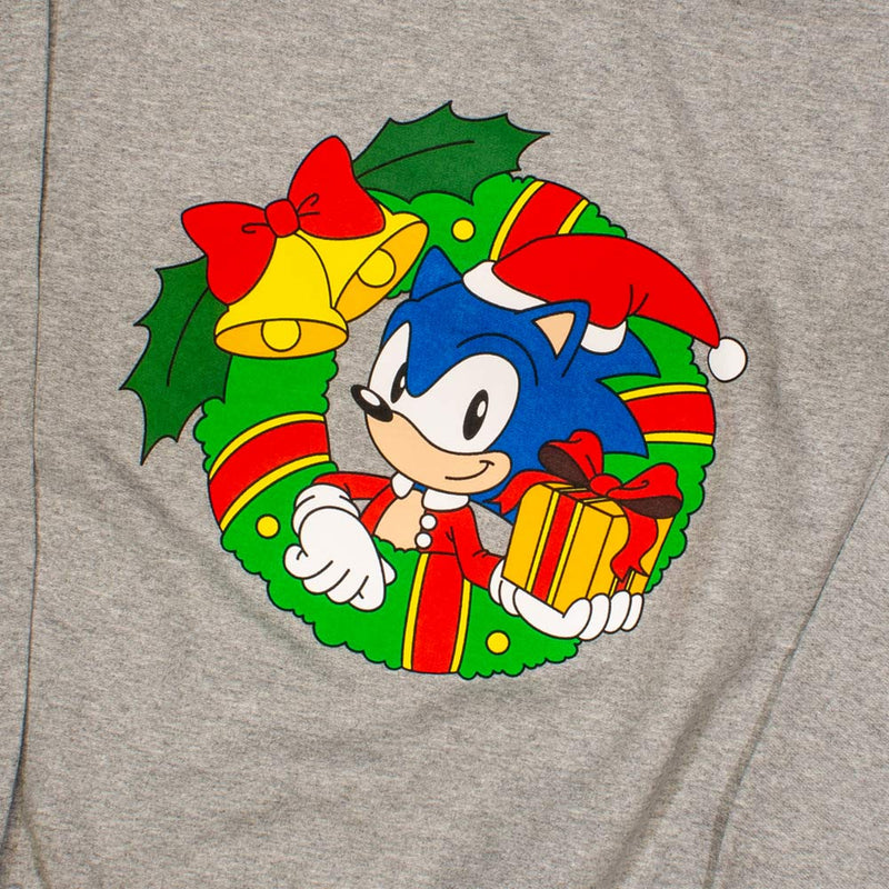Official Classic Sonic the Hedgehog 'Christmas Wreath' Crewneck Sweater (Kids)