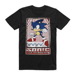 Official Sonic the Hedgehog Black Sonic Vintage Print