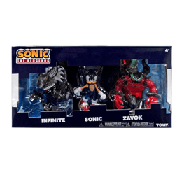 Official Sonic Forces Collector Triple Figure Set (Infinite, Sonic and Zavok)