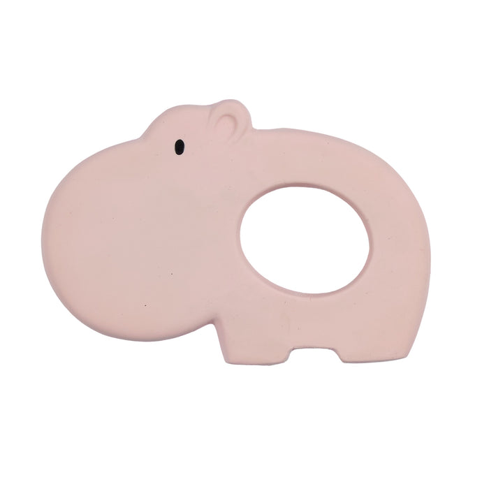 Hippo natural rubber baby teether toy