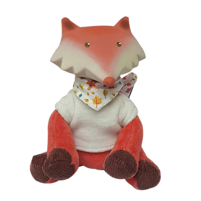Fox Toy With Vest Rubber-Head Mini Toy - Tikiri Toys