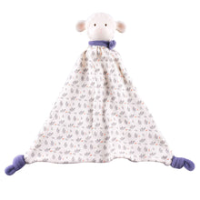 Lucas Lamb Rubber-Head Comforter With Blue Scarf - Tikiri Toys