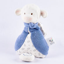 Lucas Lamb Musical Toy In Blue Scarf - Tikiri Toys