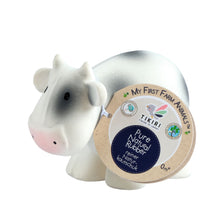 cow natural rubber baby bath toy