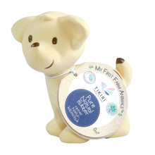 puppy natural rubber baby rattle and bath toy