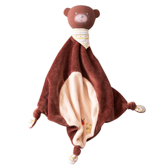 Bear Rubber-Head Comforter - Tikiri Toys