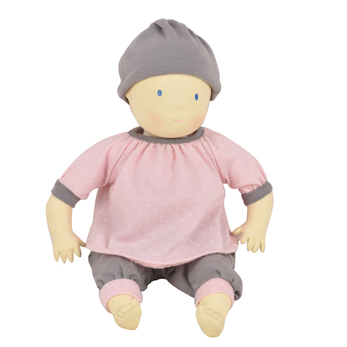 Coco With Pink & Grey Play Suit - Tikiri Toys