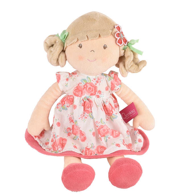 Scarlet - Beige Hair With Pink Floral Dress - Tikiri Toys