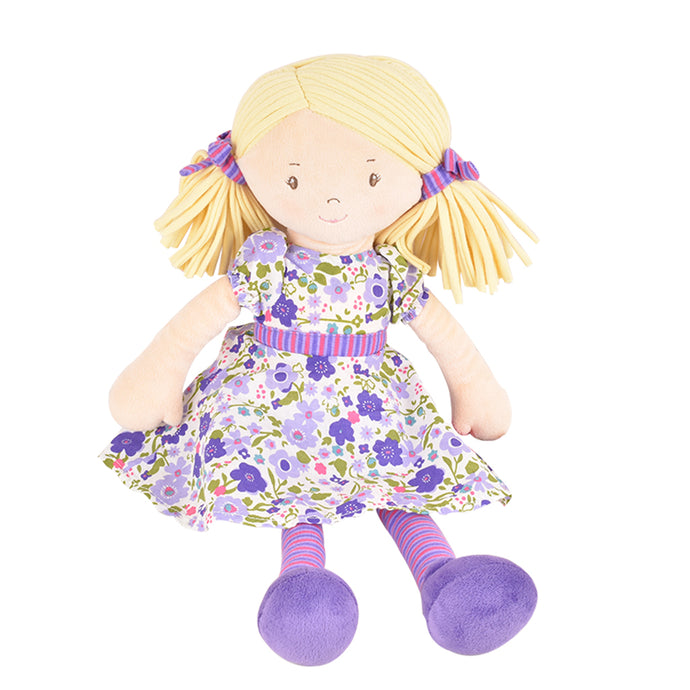 Peggy - Blonde Hair With Lilac & Pink Dress - Tikiri Toys