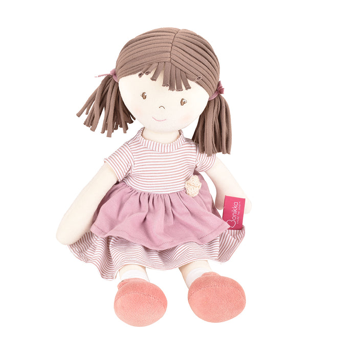 Brook - Brown Hair With Pink Dress - Tikiri Toys