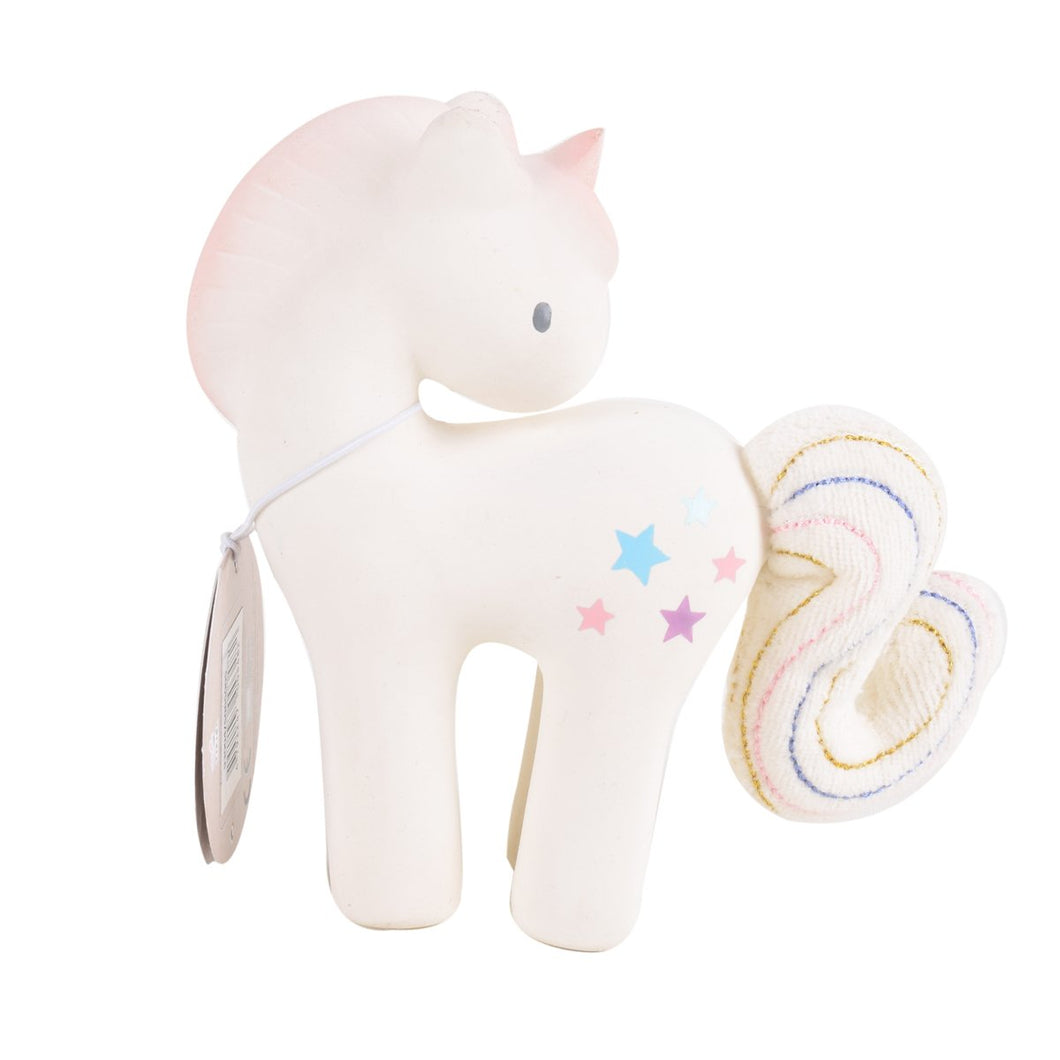 Cotton Candy Unicorn With Swing Tag - Tikiri Toys