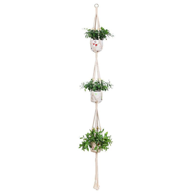 Suspension macramé triple