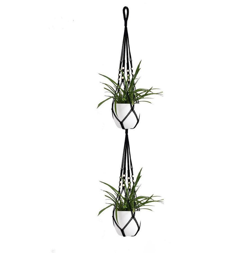 Suspension macramé double