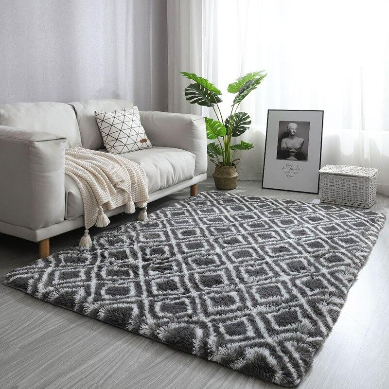 Tapis décoratif <br> Motif carreau