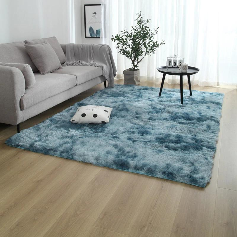Tapis rectangle bleu-[product-type]-Ambiance Cosy