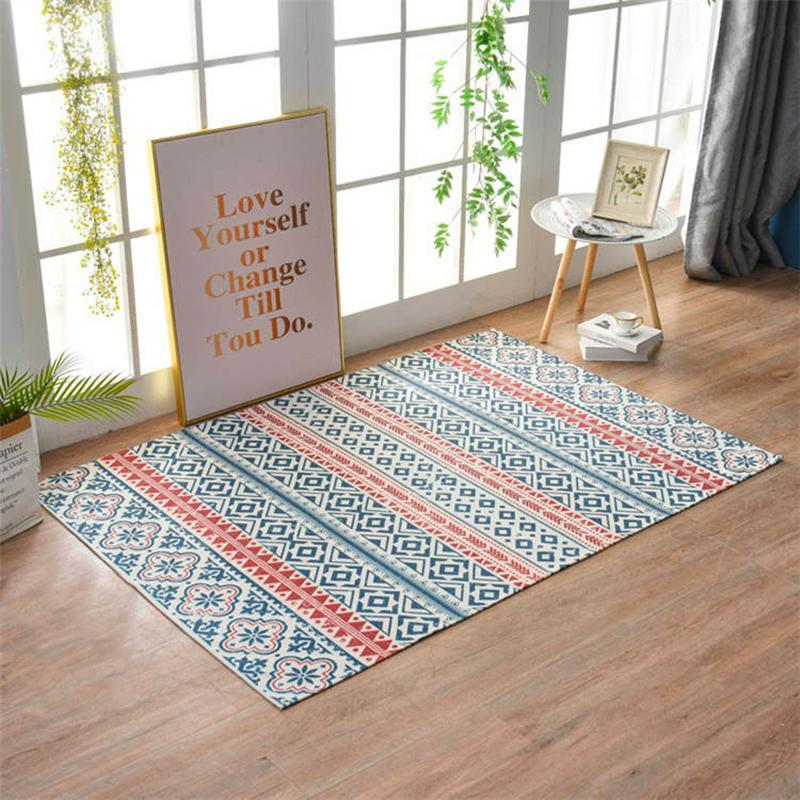 tapis rouge et bleu-[product-type]-Ambiance Cosy