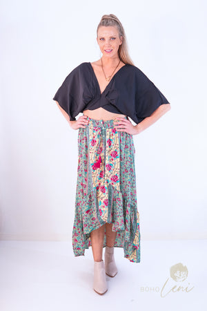 JENNIE Skirt - Green Papillon