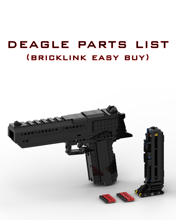 Deagle + 1x Mag Parts List (Bricklink Easy Buy)