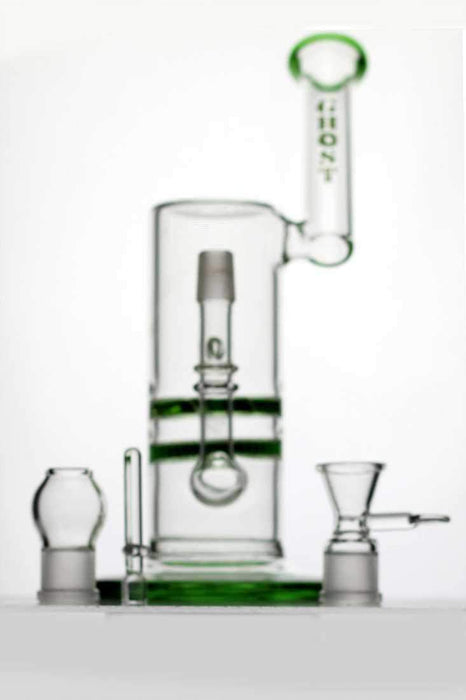 "12"" ghost 2-in-1 cyclone flat diffused oil rig - bongoutlet.com"