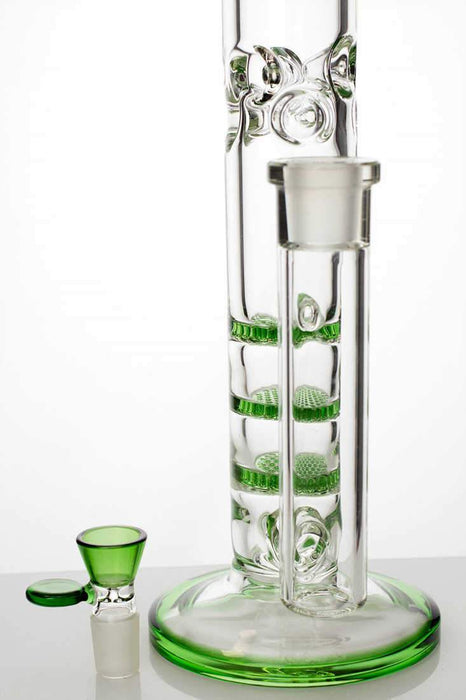 "18"" Ghost thick glass Thriple Flat Diffuser water bong - Bong Outlet.Com"