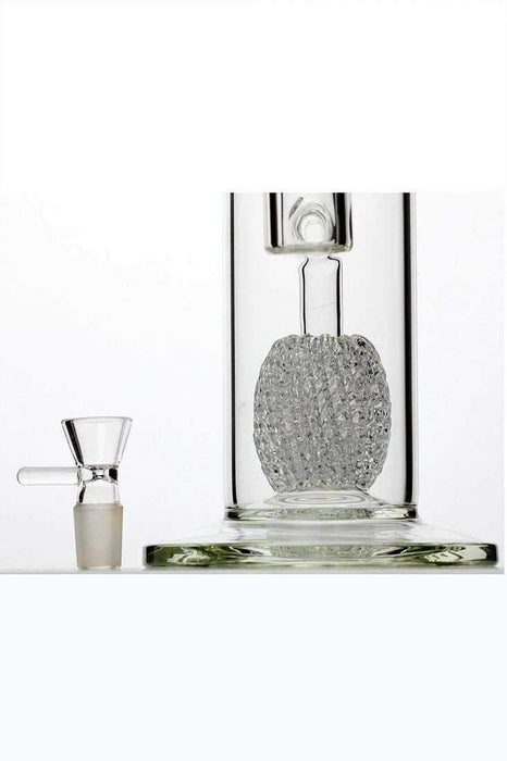 "14"" genie glass mesh diffused water pipe - bongoutlet.com"