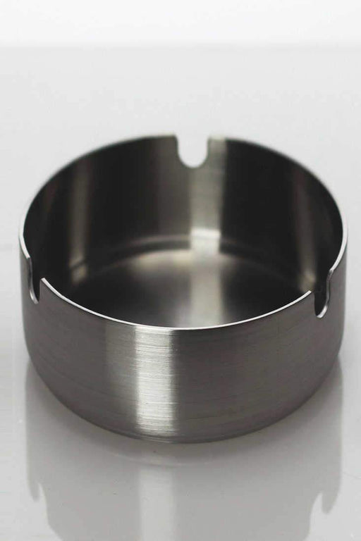Stainless round ashtray - bongoutlet.com