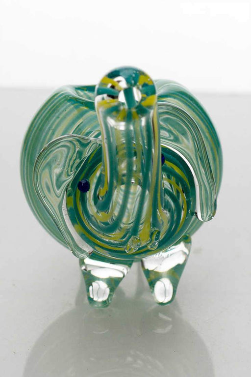 Small elephant glass hand pipe - bongoutlet.com