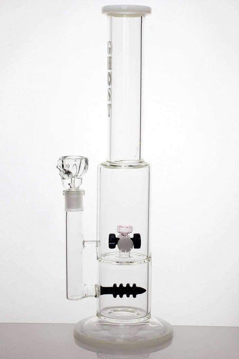 "18"" Mini shower head and inline diffused water  bong - bongoutlet.com"