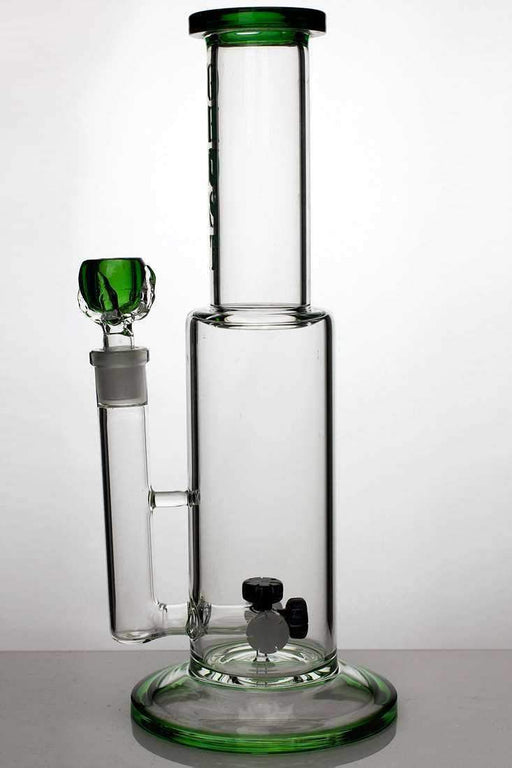"14"" ghost glass mini shower head diffused water bong - bongoutlet.com"
