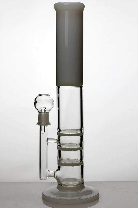 "13"" ghost 2-in-1  triple flat diffused bubbler - bongoutlet.com"