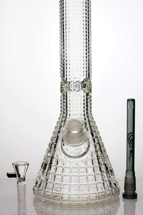 "15"" genie crystal shine glass water bong - bongoutlet.com"