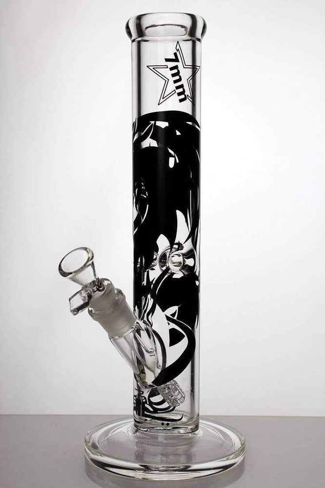 "12.5"" Genie heavy glass graphic tube water pipe - bongoutlet.com"